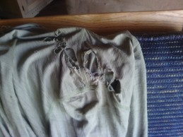 Shirt not holding together